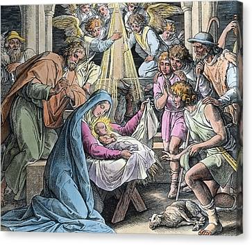 Nativity Canvas Print - Nativity by Gustave Dore
