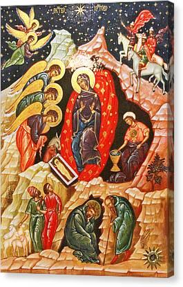 Nativity Icon Canvas Print by Munir Alawi