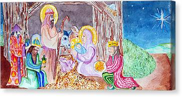 Nativity Canvas Print
