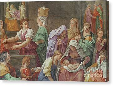 Nativity Of The Blessed Virgin Mary Canvas Print by Guido Reni