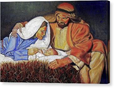 Nativity Scene Canvas Print by G Cuffia