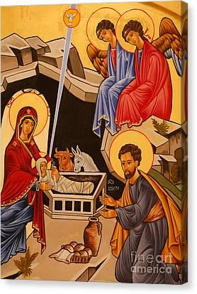 Nativity Scene Canvas Print by Italian School