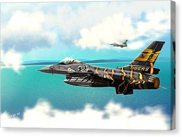 Nato Belgian Air Force 31 F16  Canvas Print by John Wills