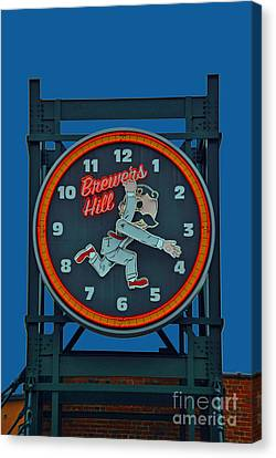 Natty Boh Clock Canvas Print by Jost Houk