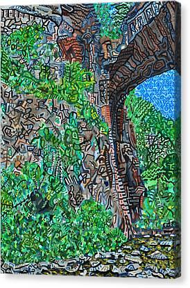 Natural Bridge Canvas Print by Micah Mullen