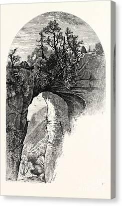 Natural Bridge, Virginia Canvas Print by John Douglas Woodward