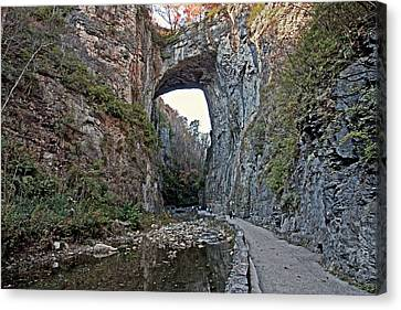 Canvas Print featuring the photograph Natural Bridge Virginia by Suzanne Stout