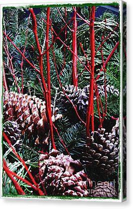 Natural Christmas Card 2 Canvas Print