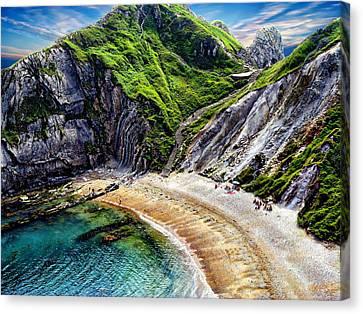 Natural Cove Canvas Print by Anthony Dezenzio