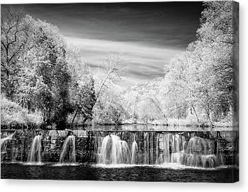 Canvas Print featuring the photograph Natural Dam Film Noir by James Barber