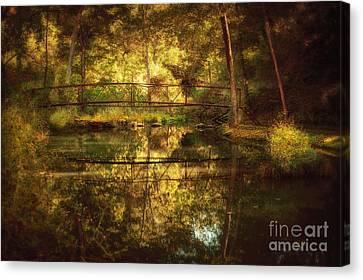 Natural Falls Bridge  Canvas Print
