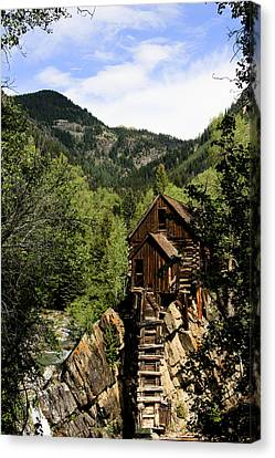 Natural Frame Around The Crystal Mill Canvas Print