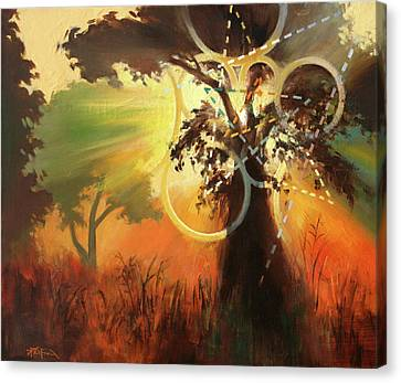 Canvas Print featuring the painting Natural Mystic by Dave Platford