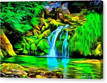 Purity Canvas Print - Natural Paradise - Da by Leonardo Digenio