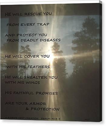 Natural Sun Cross Psalm Nlt Canvas Print