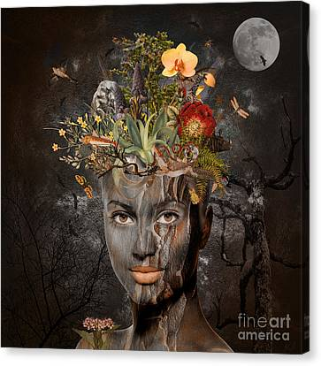 Canvas Print featuring the digital art Naturalist by Nola Lee Kelsey
