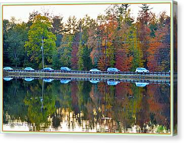 Nature And Manmade Reflections Canvas Print