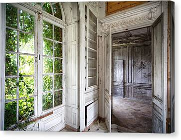 Nature Closes The Window - Urban Decay Canvas Print by Dirk Ercken