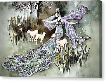 Canvas Print featuring the digital art Nature Goddess by Pennie McCracken