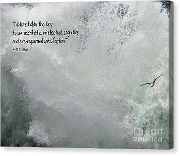 Canvas Print featuring the photograph Nature Holds The Key by Peggy Hughes