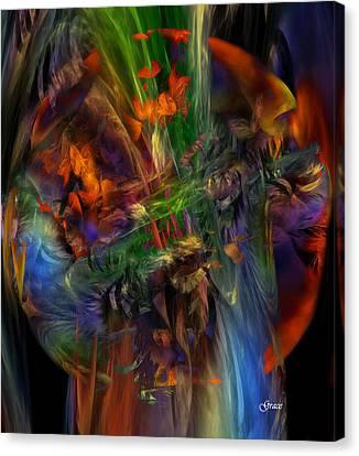 Nature Spilling Over Canvas Print by Julie Grace