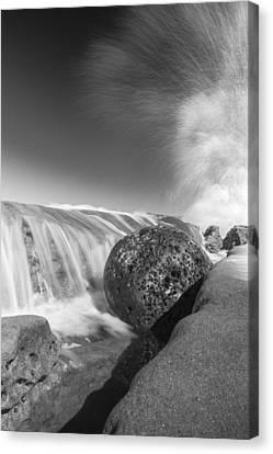 Curve Ball Canvas Print - Nature Throws A Gutter Ball 1 by Scott Campbell