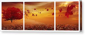 Nature's Art Canvas Print by Lourry Legarde