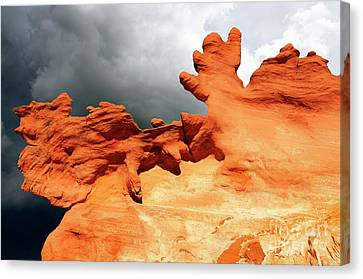Canvas Print featuring the photograph Nature's Artistry Nevada 2 by Bob Christopher