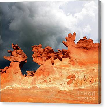 Canvas Print featuring the photograph Nature's Artistry Nevada by Bob Christopher