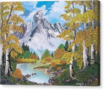 Canvas Print featuring the painting Nature's Beauty by Sharon Duguay