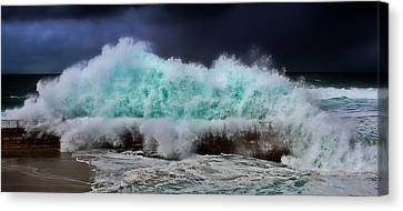 Nature's Fury Canvas Print by Russ Harris