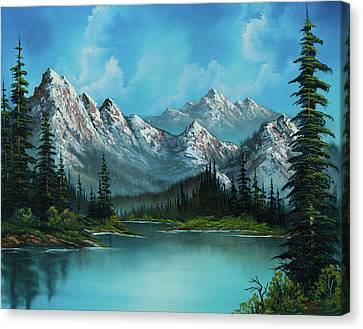 Rocky Mountain Canvas Print - Nature's Grandeur by Chris Steele