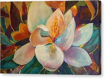 Canvas Print featuring the painting Nature's Jewelry by AnnE Dentler