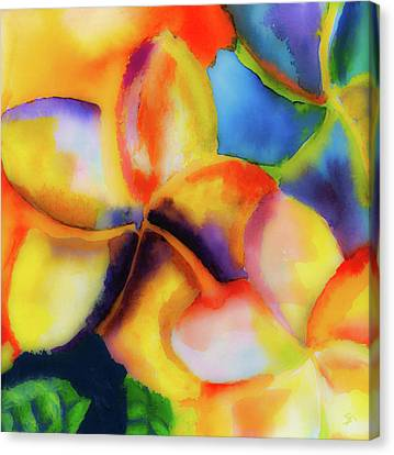 Canvas Print featuring the painting Nature's Pinwheels by Stephen Anderson