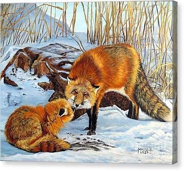 Natures Submission Canvas Print by Marilyn McNish