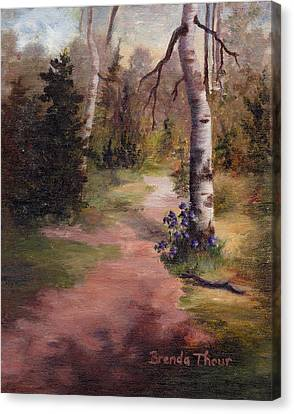 Canvas Print featuring the painting Natures' Trail by Brenda Thour