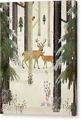 Natures Way The Deer Canvas Print by Bri B