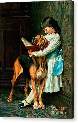 Naughty Boy Or Compulsory Education Canvas Print by Briton Riviere