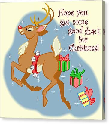 Naughty Reindeer Canvas Print