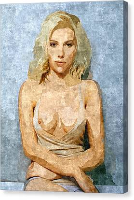 Naughty Scarlett Nude Canvas Print by BDSM love