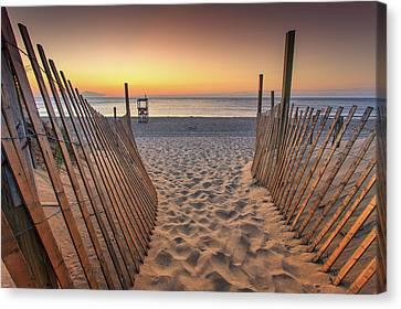 Nauset Beach Canvas Print - Nauset Beach Entrance 2 by Dapixara Photo Art