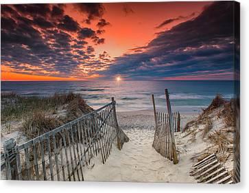 Nauset Beach Sunrise April 18 2017 Canvas Print by Dapixara Art