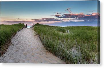 Nauset Beach Canvas Print - Nauset Beach Sunset by Bill Wakeley