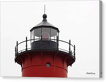 Nauset Lighthouse Detail Canvas Print by Michelle Wiarda