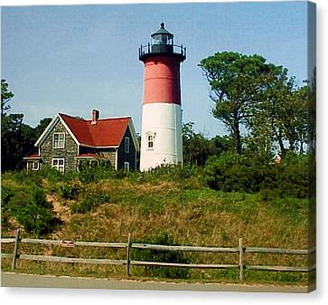 Canvas Print featuring the photograph Nauset Lighthouse by Frederic Kohli