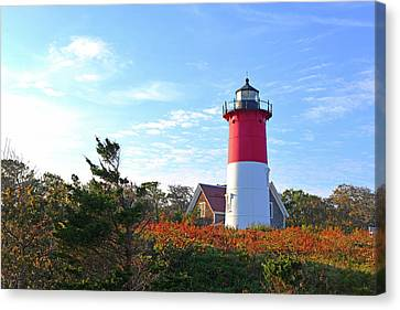 Nauset Lighthouse Canvas Print by Marilyn Holkham