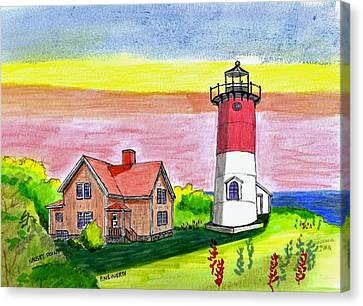 Nauset Point Lighthouse Canvas Print by Paul Meinerth