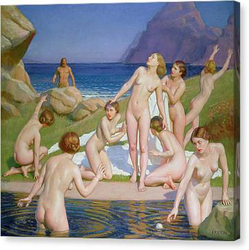 Nausicaa Canvas Print by William McGregor Paxton