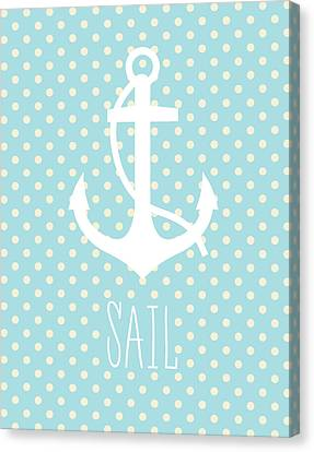 Nautical Anchor Art Print Canvas Print by Taylan Apukovska