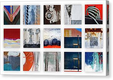 Nautical Bits Panel Number 1 Canvas Print by Carol Leigh